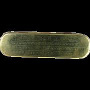 18th Century Dutch Brass Copper Tobacco Box Solomon's Temple