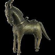 Vintage Dhokra Tribal Cast Brass Horse India