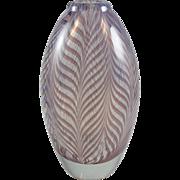 Orient & Flume Art Glass Vase Pulled Feather Gary Jones