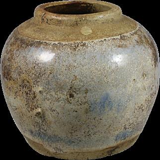 19th Century Chinese Glazed Stoneware Ginger Storage Jar