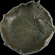 Japanese Bronze Curled Leaf Bowl Taisho Era