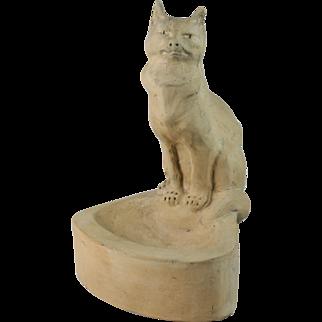 Charles Virion Model Of A Cat ''Un Chat'' Buff Terra Cotta Sculpture