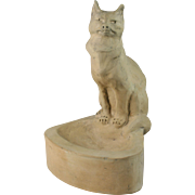 French Charles Virion Model Of A Cat ''Un Chat'' Terra Cotta Sculpture
