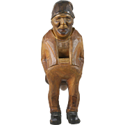19th Century Carved Wood Figural Nutcracker Switzerland
