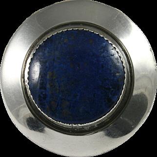 Frank Patania Sr. Sterling Lapis Lazuli Pin Pendant