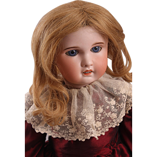"""Adorable 21"""" S. F. B. J. French Bisque Bebe Doll"""