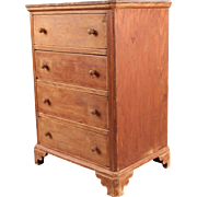 Antique Kentucky Primitive Miniature Chest of Drawers