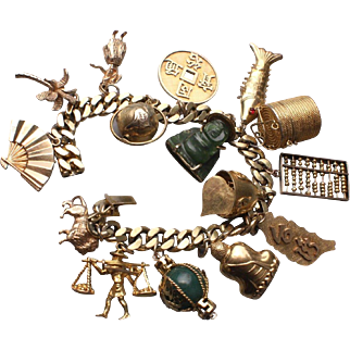 Fabulous Vintage Charm Bracelet with Charms