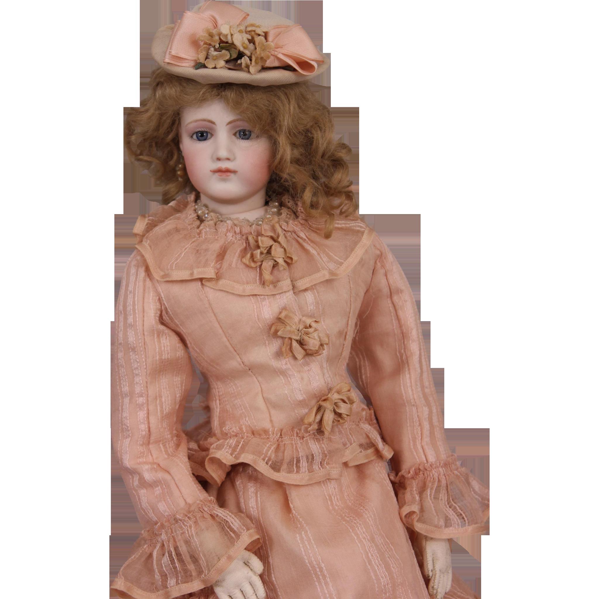 """Antiques Collectibles: Captivating 20"""" Antique Jumeau Portrait Fashion Poupee"""