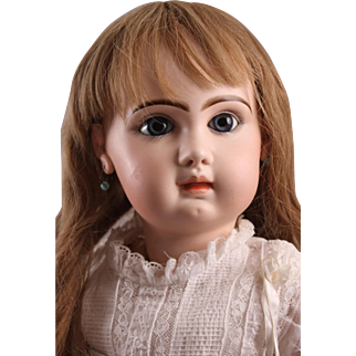 """Dreamy 28"""" Jumeau Bebe Doll, Closed Mouth, Paperweight Eyes, Ca. 1900"""