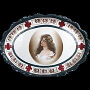 Antique Platter Constance Portrait
