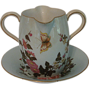 Antique Royal Worcester Creamer and Underplate
