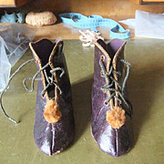 Antique original boots leather