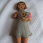Antique doll coton