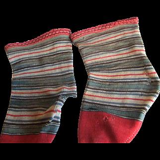 Antique socks doll