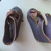 Antique shoes lather jumeau size 11