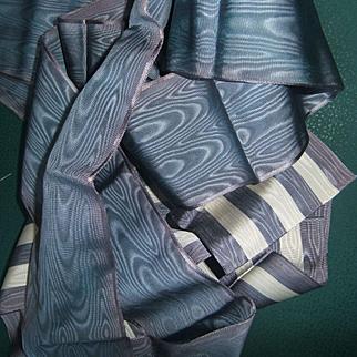 Antique 2 ribbon silk1880
