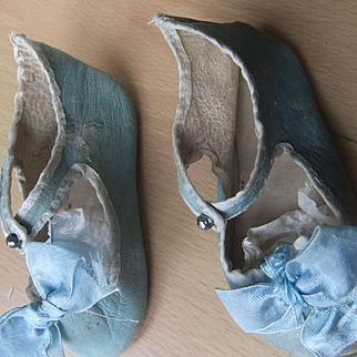 Antique origina lblue shoes  steiner