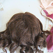 Antique brown wig