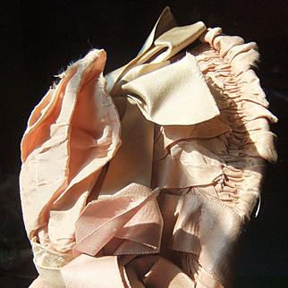 Antique silk hat doll circa 1880