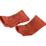 Socks of antique doll
