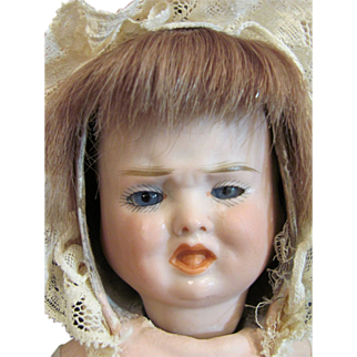"Three Faces Doll 13"" with crier circa 1880s"