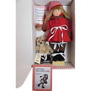Thank you 'G'_EDITH The Lonely Doll Winter/Ice Skates/Steiff Bear/Book-all felt doll_