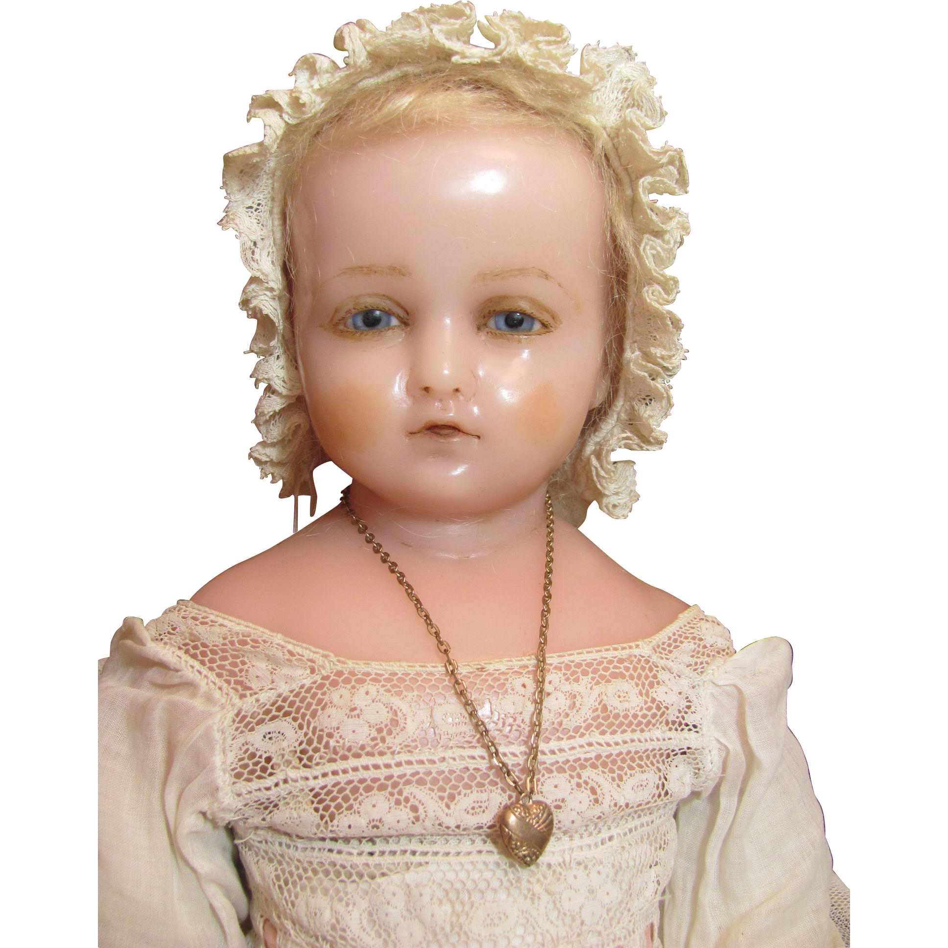 Pierrotti Baby Face English Poured Wax Doll Circa1871