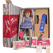 Gorgeous RARE REDHEAD Toni Doll P-91 Complete w/box plus Blue Ribbon_