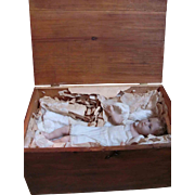 Baby Jesus Poured Wax Shoulder Head Doll_