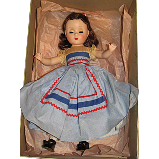 """HOLD for 'M'_BETH Little Women Madame Alexander Series Circa 1950 MIB_14""""_FREE shipping in USA"""