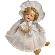 Rare Shirley Temple BABY_1930's Composition Doll_Flirty Eyes_