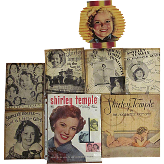 Shirley Temple Memorabilia Collection_Circa 1936 to 1949_8 pieces_