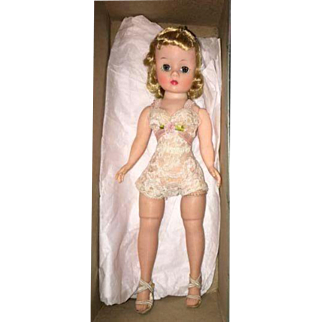 "Vintage Cissette Mint In Box 1950's Blond Beauty in Chemise 9"" Madame Alexander Doll_"