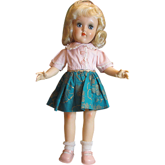"""Ideal Toni Doll 1950's 14"""" P-90 in original clothing Blond Beauty_"""