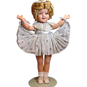 "22"" Shirley Temple Composition Doll Circa 1930's_"