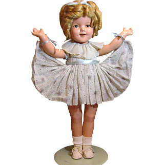 "22"" Shirley Temple 1930's Composition Doll_"