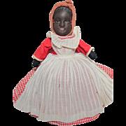 Black Americana BRUCKNER Topsy Turvy Cloth Doll_Original_Circa 1907_