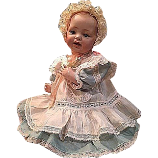 "Kestner ""Baby"" Antique Bisque Character Doll 16"" _ JDK Made in 12 Germany_Solid Dome Head_Sleep eyes"