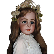"34"" Simon & Halbig 939 Fabulously Large w/very long HH Wig_'Mesmerizing Doll' will take your breath away at first glance_"