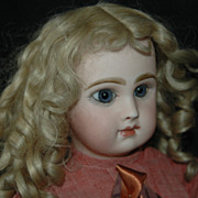 "Lovely 18-1/2"" Closed-Mouthed Jumeau Bebe"