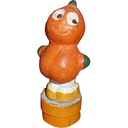 German Halloween Composition Pumpkin Veggie Boy Candy Container