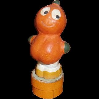 German Halloween Composition Pumpkin Veggie Boy Candy Container