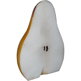 AAFA Large Stone Fruit Primitive HALF PEAR