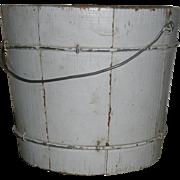 Small Child's Wooden AAFA Bucket in Gray Grey Paint