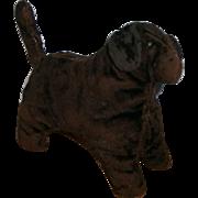 AAFA Primitive Velvet Straw Stuffed Animal Child's Toy DOG