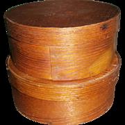AAFA Primitive Wood Pantry Box Set Lot of 2 in Natural Surface