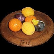AAFA Primitive Miniature Mini Stone Fruit: Peach, Orange, Lemon, Plum, and more