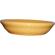 Yellow Ware Small Berry Fruit Kitchen Bowl 1930's