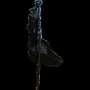 AAFA Primitive Double Iron Betty Lamp